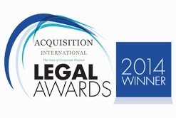 """Acquisition International Legal Awards """"Global M&A Software solution of the Year"""" 2014"""
