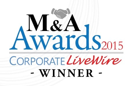 "Corporate Livewire's M&A Awards ""Most Outstanding M&A Software Company"" 2015"