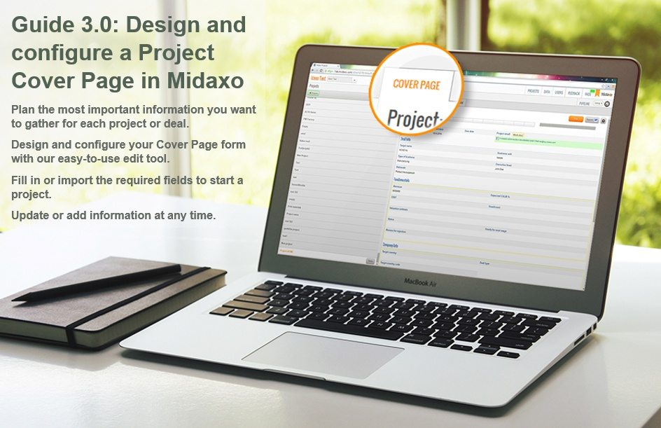 Guide 3.0: Design and configure a Project Cover Page in Midaxo