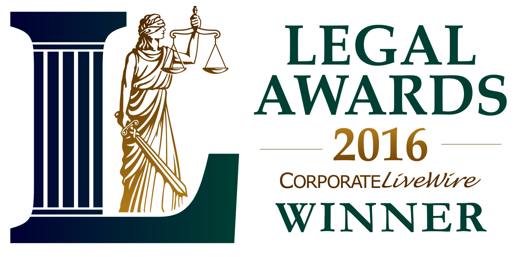 Corporate Livewire's Legal Awards Winner 2016